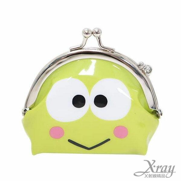 X射線【C047362】大眼蛙造型塑膠零錢包,美妝小物包/口金包/包包