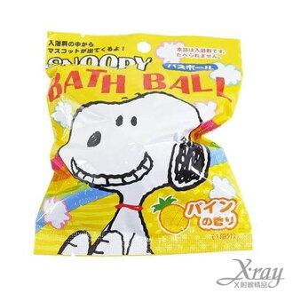 X射線【C200953】史奴比入浴劑(鳳梨香味),泡澡/沐浴球/入浴劑/卡通/可愛日式/凱蒂貓/沐浴/玩具
