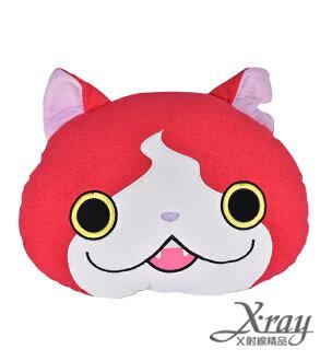 X射線【Y120466】12吉胖貓頭型抱枕,絨毛娃娃/情人節/婚禮小物