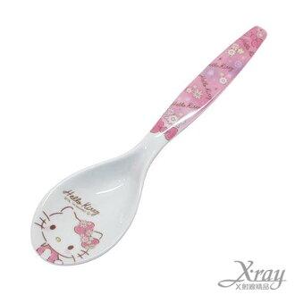 X射線【C412043】Hello Kitty 美奈皿湯匙,餐具組/環保/開學/便當/兒童