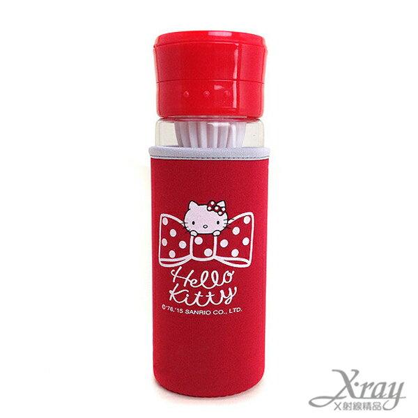 X射線【C093087】Hello Kitty蔬果榨汁養身附套玻璃瓶-紅,水瓶/隨身瓶/飲水壺/外出水壺/防漏