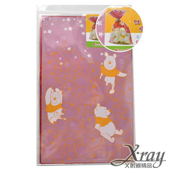 X射線【C101241】維尼透明禮物袋(中)-紅,送禮/包裝/手工餅乾