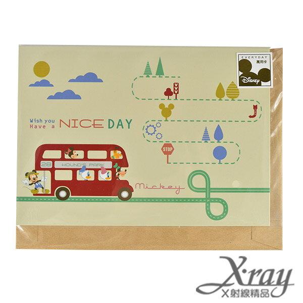 X射線【C104549】迪士尼精緻萬用卡片-Nice Day,送禮/米奇/米妮/唐老鴨/黛絲/高飛/布魯托