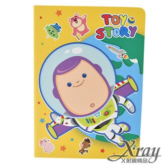 X射線【C104730】玩具總動員筆記本64K,便條紙/記事本/辦公小物/玩具總動員