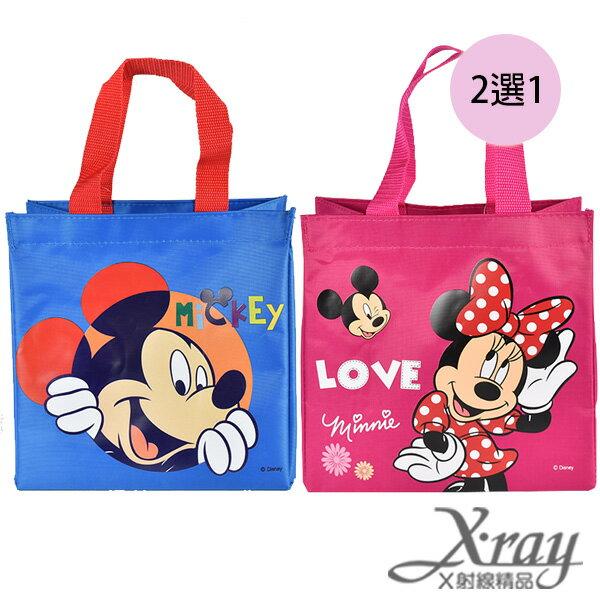 X射線【C848834】米奇尼龍布提袋-粉紅.藍(2選1),書袋/購物袋/便當袋/手提袋/開學必備