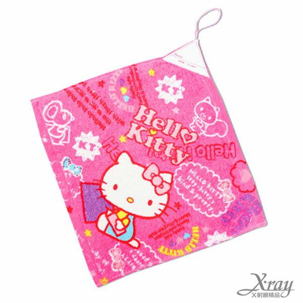 X射線【C252181】Hello Kitty擦手掛巾-寫生,洗澡巾/紗布巾/毛巾/開學必備/攜帶方便/擦手巾
