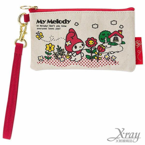 X射線~C505960~美樂蒂扁平手機包,收納包 零錢包 萬用包 隨身小物包