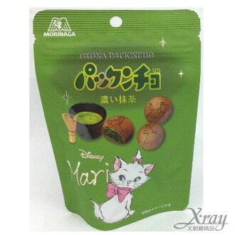 X射線【C221989】森永製果迪士尼瑪麗貓濃郁抹茶夾心餅乾,點心/糖果/DIY