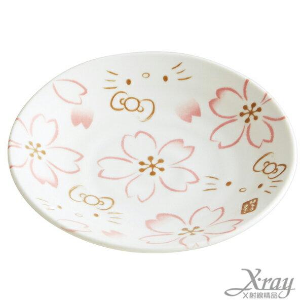 X射線【C313226】Hello Kitty陶製盤S-櫻花,盤子/餐盤/點心盤