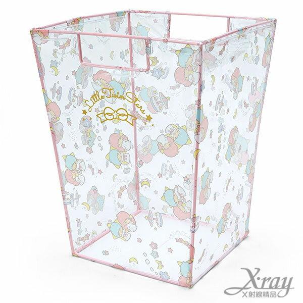 X射線【C512982】雙子星透明垃圾桶,置物筒/垃圾筒/卡通/可愛日式/收納/Keroppi/三麗鷗/日式精品