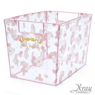 X射線【C513200】美樂蒂透明長型收納箱,置物筒/卡通/可愛日式/收納/三麗鷗/日式精品