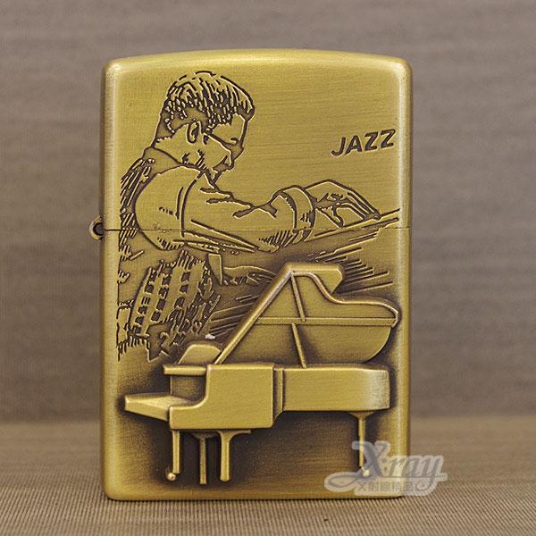 X射線【Y020255】煤油打火機(彈鋼琴.浮雕)鋅合金打造,附精美禮盒/防風打火機/男士精品/情人節禮物