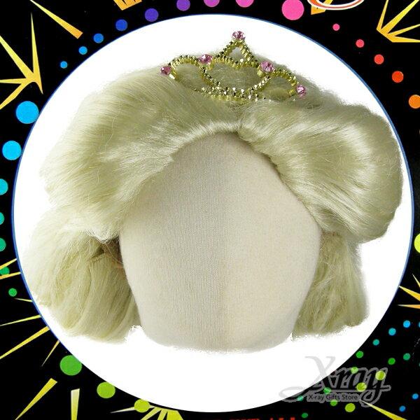 X射線【W300033】白雪公主假髮(金色),萬聖節/尾牙/PARTY變裝/化妝舞會/表演
