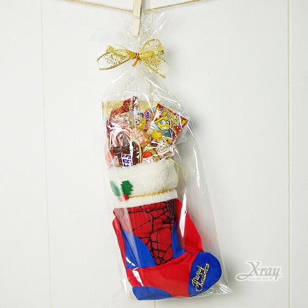 """X射線【X3839841】10""""蜘蛛人造型襪糖果組,聖誕衣/聖誕帽/聖誕襪/禮物袋/聖誕老人裝"""