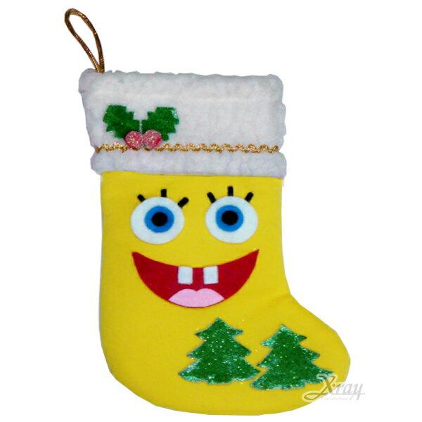 X射線【X383953】聖誕節黃寶造型襪,聖誕衣/聖誕帽/聖誕襪/聖誕禮物袋/聖誕老人衣服