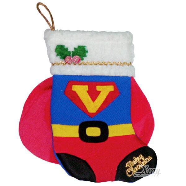 X射線【X383977】聖誕節超人造型襪,Party/角色扮演/化妝舞會/表演造型都合適~