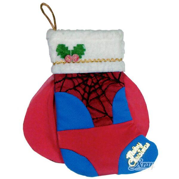 X射線節慶王【X383984】聖誕節蜘蛛人造型襪,聖誕衣/聖誕帽/聖誕襪/聖誕禮物袋/聖誕老人衣服