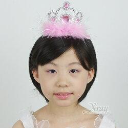 X射線【W408021】公主愛心羽毛皇冠(粉),萬聖節/Party/角色扮演/化妝舞會/表演造型都合適~