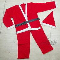 送小孩聖誕禮物到X射線【X603010】小孩老公公衣(7-12歲適穿),聖誕老人裝/聖誕節/聖誕帽/聖誕衣/聖誕裝扮