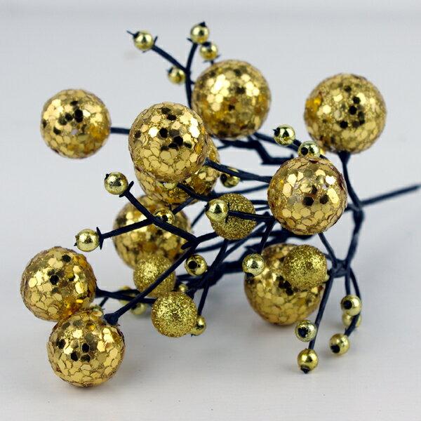X射線【X713000】球型花蕾(金), 聖誕衣/聖誕帽/聖誕襪/聖誕禮物袋/聖誕老人衣服