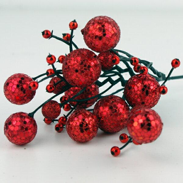 X射線【X713002】球型花蕾(紅), 聖誕衣/聖誕帽/聖誕襪/聖誕禮物袋/聖誕老人衣服