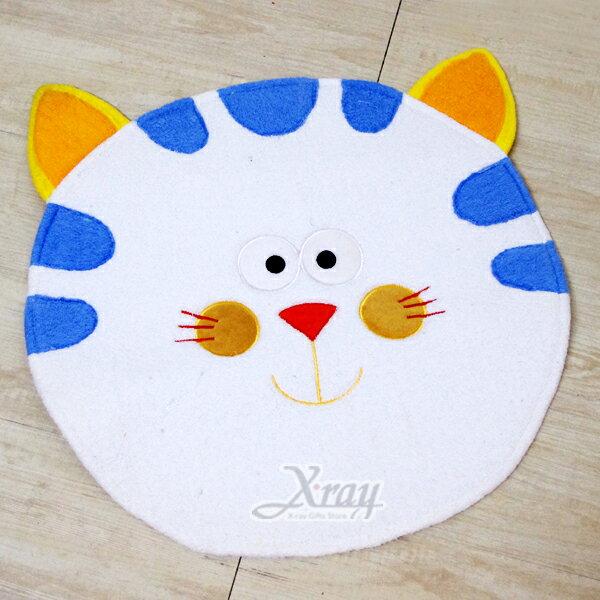 X射線【G360003】貓咪造型腳踏墊,地墊/地毯/止滑墊/浴室防滑墊