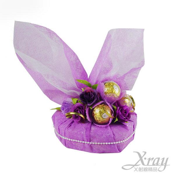 X射線【Y999948】L.O.V.E告白金莎禮盒(紫愛你),情人節金莎花束/情人節禮物/婚禮小物