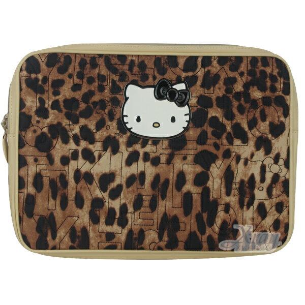 X射線【C177508】15吋kitty筆電套(豹紋),筆電收納套/電腦防塵套/防護套/電腦包/開學必備