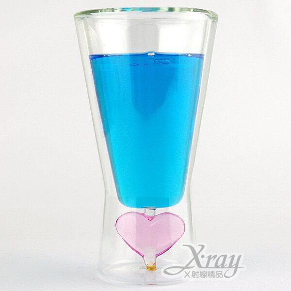 X射線【C060003】甜心冰酒杯175ml,手工造型雙層杯/玻璃杯/耐熱/不含塑化劑&雙酚A
