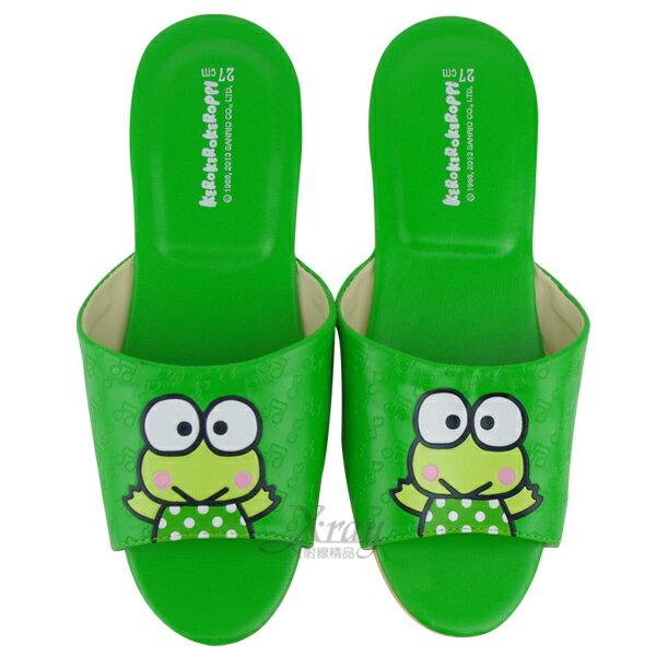 X射線【C522704】大眼蛙室內皮製拖鞋(綠色),兒童拖鞋/室內拖鞋/舒適拖鞋/休閒拖鞋/生活居家/台灣製