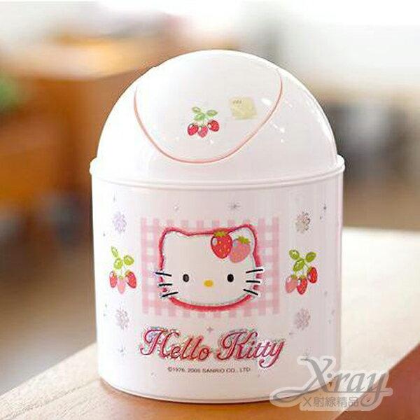 X射線【C110041】Kitty垃圾桶,韓國製,迷你垃圾桶/桌上型垃圾桶/衛浴用品/浴室