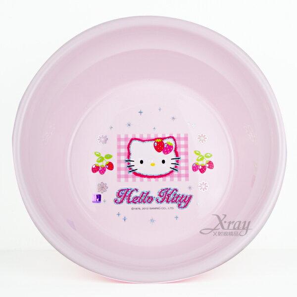 X射線【C170465】HelloKitty臉盆(草莓.大),迷你垃圾桶/桌上型垃圾桶/衛浴用品/浴室