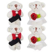 婚禮小物推薦到X射線【Y170009】新婚熊吊飾(一對),婚禮小物/喜糖盒/手機吊飾/禮物盒/送客禮/喜糖袋