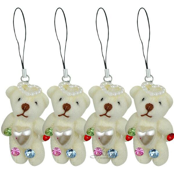 X射線【Y170010】水滴愛心熊吊飾,婚禮小物/喜糖盒/手機吊飾/禮物盒/送客禮/喜糖袋