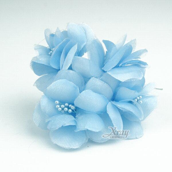 X射線【Y100014】圓滿裝飾花5入(藍),婚禮小物/婚禮佈置/DIY手工藝/花束材料/包裝材料