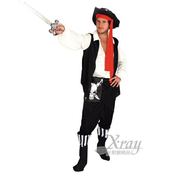 X射線~W652613~骷髏 海盜裝,化妝舞會 角色扮演 尾牙表演 萬聖節 聖誕節 兒童變