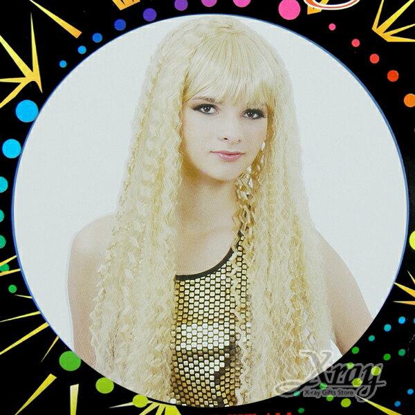 X射線【W030047】美人魚玉米鬚長髮(金),萬聖節服裝/表演道具/造型假髮/角色扮演cosplay