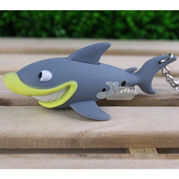 X射線【C180001】鯊魚LED造型聲光鑰匙圈/鎖圈/KEY圈/吊飾(動物造型)2個$100