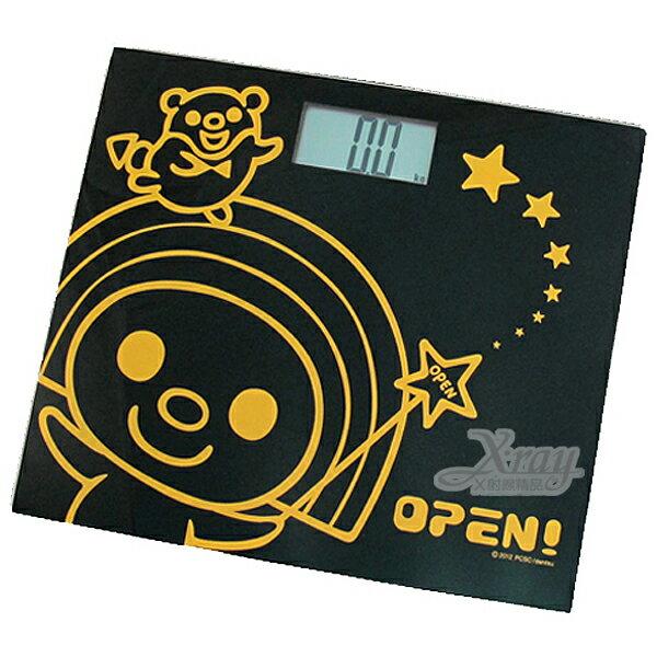 X射線【C169163】OPEN電子體重計(黑.小竹輪),強化玻璃/簡單輕巧/收納方便/HW-916OP