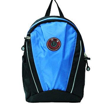 X射線【Cb3062】UnMe超大容量休閒背包(粉藍)台灣製造,開學必備/兒童書包/雙肩包/手提包