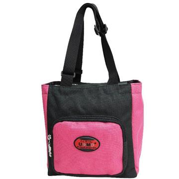 X射線【Cp3112】UnMe多功能手提便當袋萬用提袋(桃黑)台灣製造,開學必備/護脊書包/書包/後背包/背包/便當盒袋/書包雨衣/補習袋/輕量書包/拉桿書包