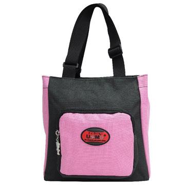 X射線【Cpk3112】UnMe多功能手提便當袋萬用提袋(粉黑)台灣製造,開學必備/護脊書包/書包/後背包/背包/便當盒袋/書包雨衣/補習袋/輕量書包/拉桿書包