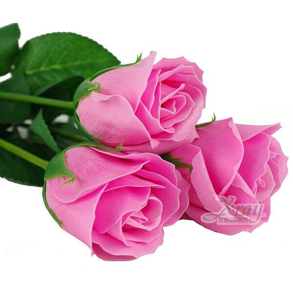 X射線【Y040001】玫瑰皂花(粉.玫瑰花),擺飾/情人節/聖誕節/送禮/婚禮小物