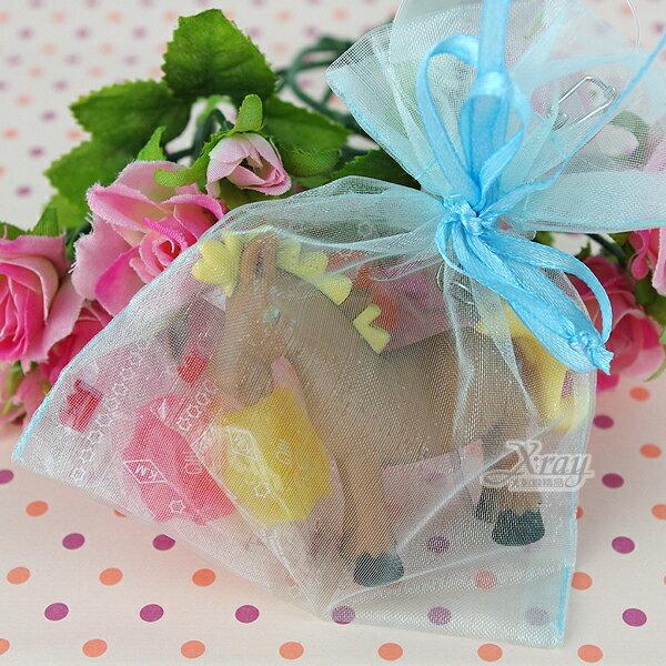 X射線【Y110111】婚禮小物組59(方型紗袋+聲光鑰匙圈+糖果),送客糖果袋/喜糖盒/紗袋/婚禮小物