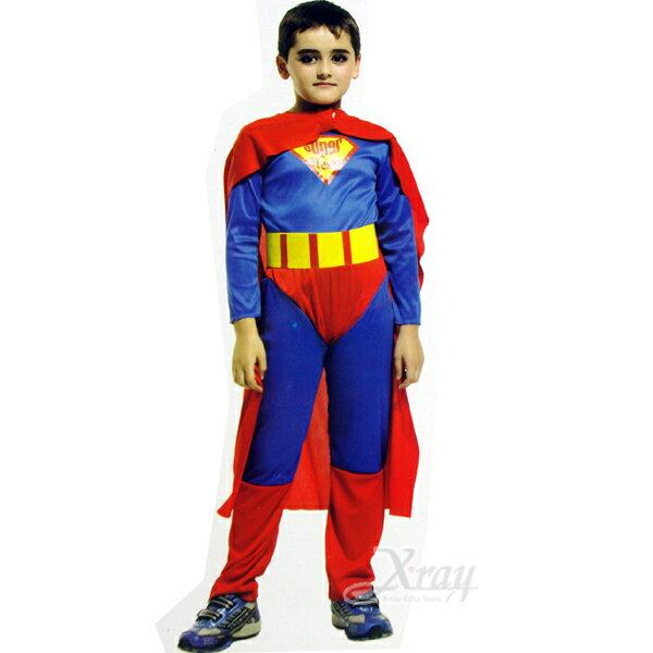 X射線【W911483】無敵超人裝連身裝扮服,萬聖節/服裝/化妝/舞會/派對/道具/扮演/英雄/復仇者聯盟