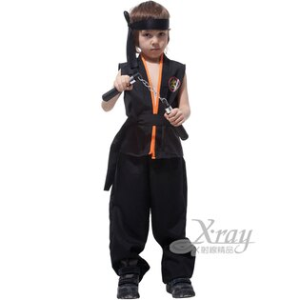X射線【W652460】空手道小武士,化妝舞會角色扮演尾牙表演萬聖節聖誕節兒童變裝cosplay忍者