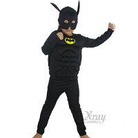送小孩聖誕禮物推薦聖誕禮物小孩服裝到X射線【W370009】二件式蝙蝠俠肌肉服裝,化妝舞會/角色扮演/尾牙表演/萬聖節/聖誕節/兒童變裝/cosplay就在X射線 精緻禮品推薦送小孩聖誕禮物