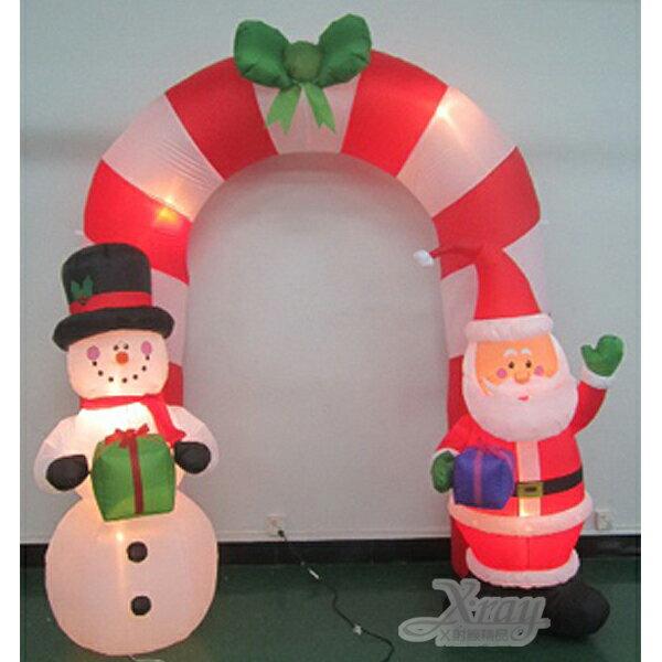 X射線~X007803~274cm老公公雪人拱門充氣,聖誕  聖誕佈置  充氣擺飾好收納
