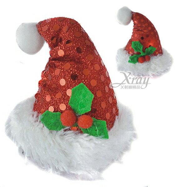 X射線【X064080】聖誕閃燈帽子髮夾,化妝舞會/表演造型/尾牙表演/聖誕節/派對道具