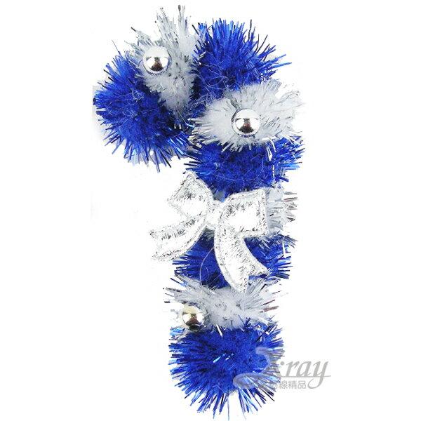 X射線【X480414】聖誕毛球別針(枴杖)(隨機出貨),胸針/胸章/聖誕節/聖誕禮物/裝飾/聖誕小禮物